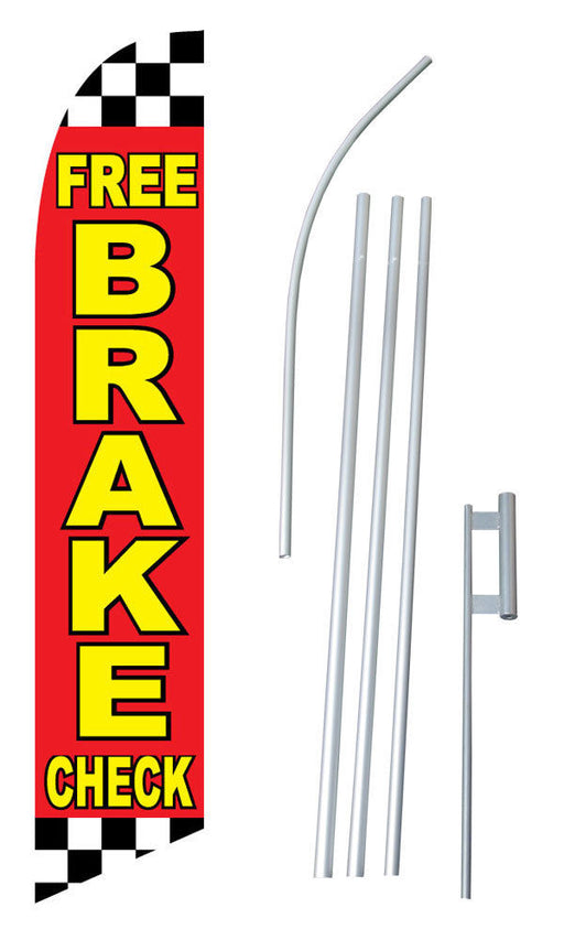 Free Break Check Feather Flag Kit