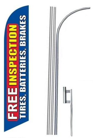 Free Inspections Feather Flags Kit
