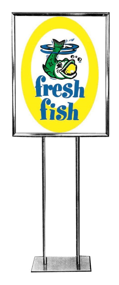 Fish Floor Stand Stanchion Sign