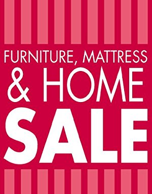 "Furniture, Mattress & Home Sale Event Standard Poster - 22""X 28"""