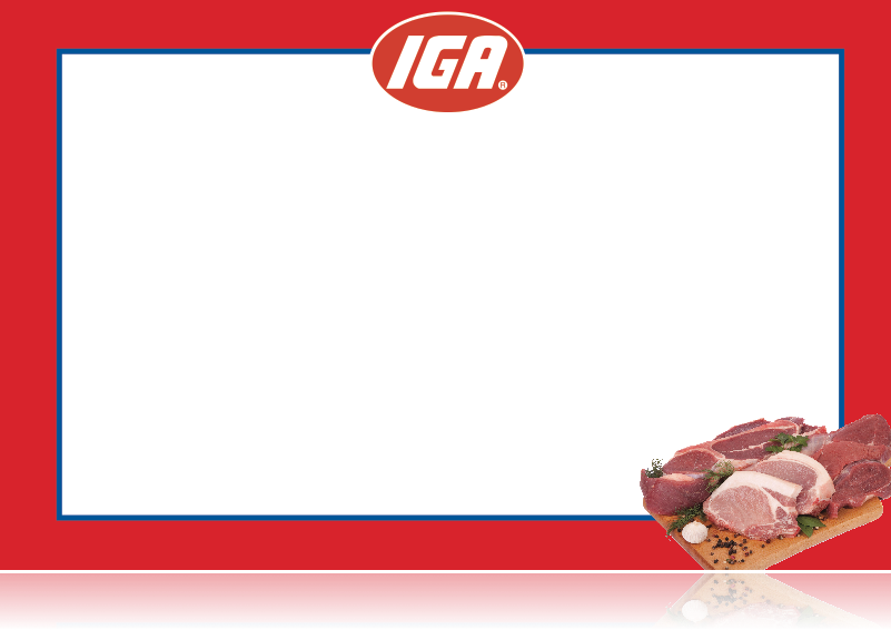 "IGA Shelf Signs- Meat Department Laser Shelf Signs-11""w x 7""H -100 signs"