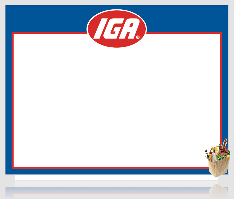 IGA Shelf Signs-Price Cards 8.5 x 11-100 signs
