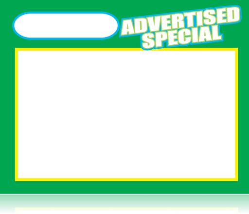 Advertised Special Shelf Signs Price Cards