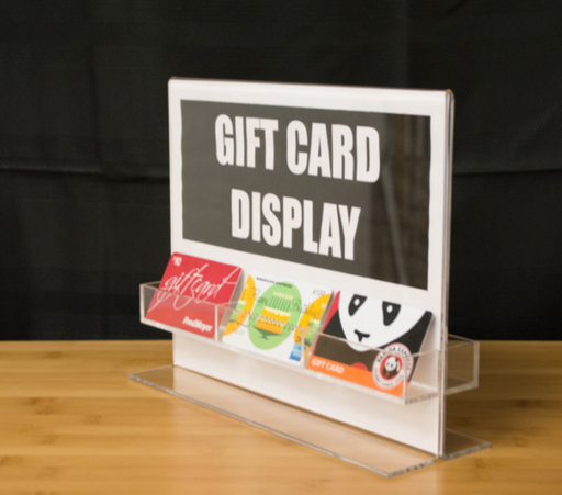 Gift Cards-Sign Holder Acrylic Countertop Display
