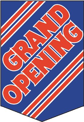 "Grand Opening Pennants- 14""W x 20""H- 2 pieces"
