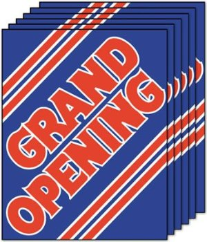 Grand Opening Sale Event Posters-Floor Stand Signs-4 pieces