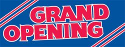 "Grand Opening Paper Banner -25""W x 9.5""H"