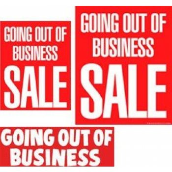Going Out Of Business Sign Kit- 20 pieces