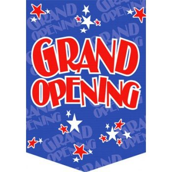 "Grand Opening Star Themed Pennants- 14""W x 20""H- 2 pieces"