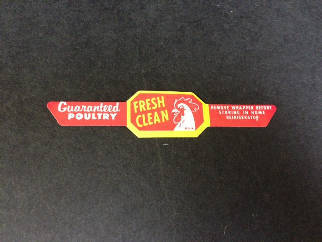 Poultry Strap Labels -Grease-Proof -5000 pieces