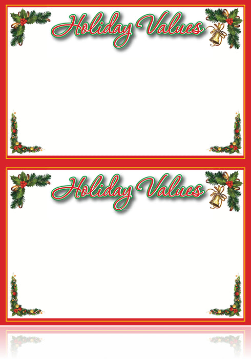 Christmas Price Cards shelf signs