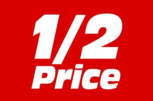 1/2 Price Shelf Sign Price Cards