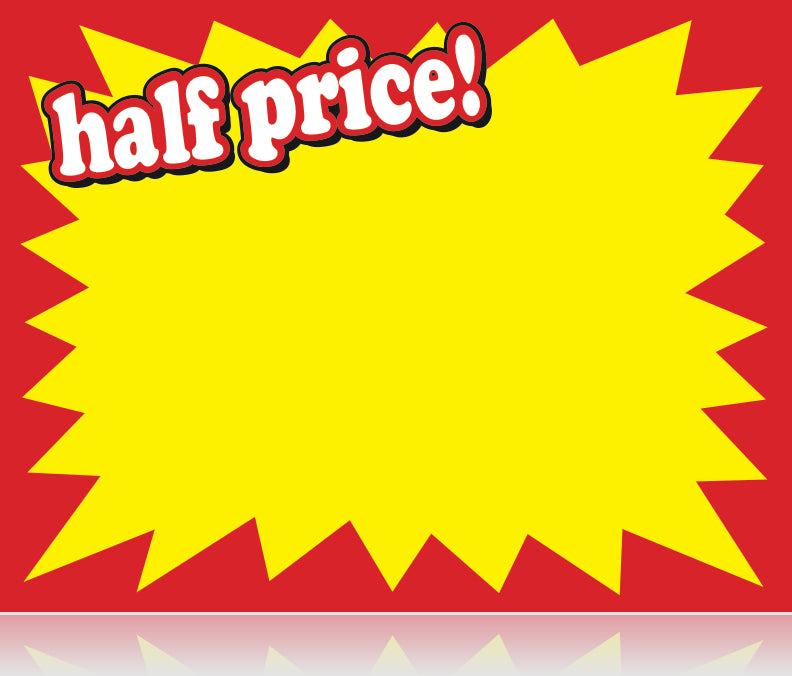 """100-7/"""" x 11/"""" Sale//Reg Price cards for Retail Stores Nice Signage Signs"""