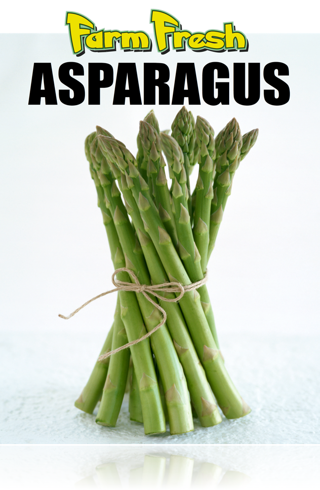 "Produce Hanging Sign Ceiling Danglers-Asparagus 22"" W x 28"" L"