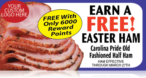 "Easter Ham Hanging Signs 28"" W x 22"" L"