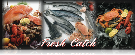 "Fresh Catch Seafood Hanging Sign 32""W x 24""H"