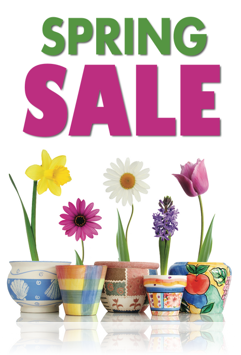 "Spring Sale Hanging Sign 22""W x 28""L"