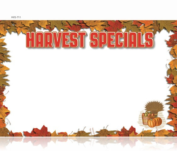 "Harvest Specials Shelf Signs-Laser Compatible-11"" x 7 ""- 50 signs"