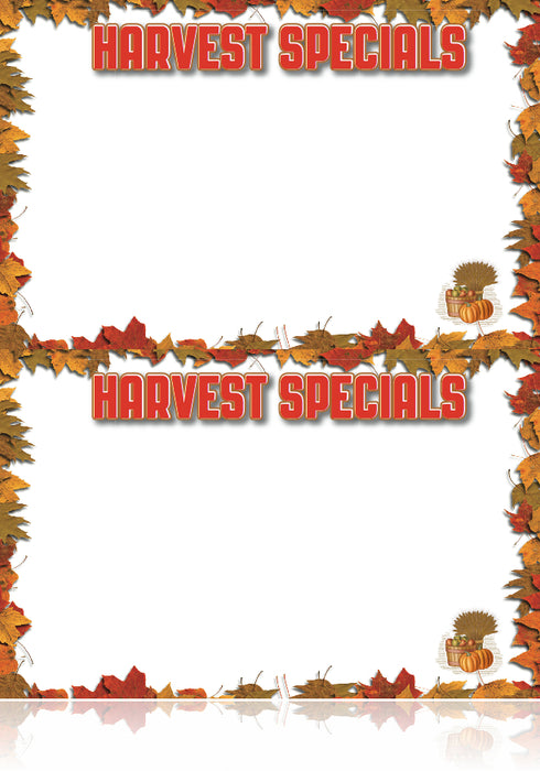 Harvest Specials Sign Cards thanksgiving fall autumn