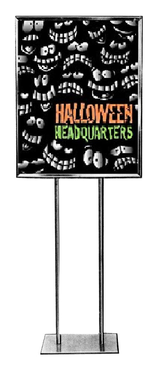 "Halloween Headquarters Sale Event Standard Posters-Floor Stand Signs-22"" W x 28"" H"