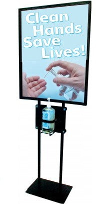 Clean Hands Save Lives Floor Stand Stanchion Sign