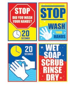 Hand Washing Signs for Schools- K thru 12