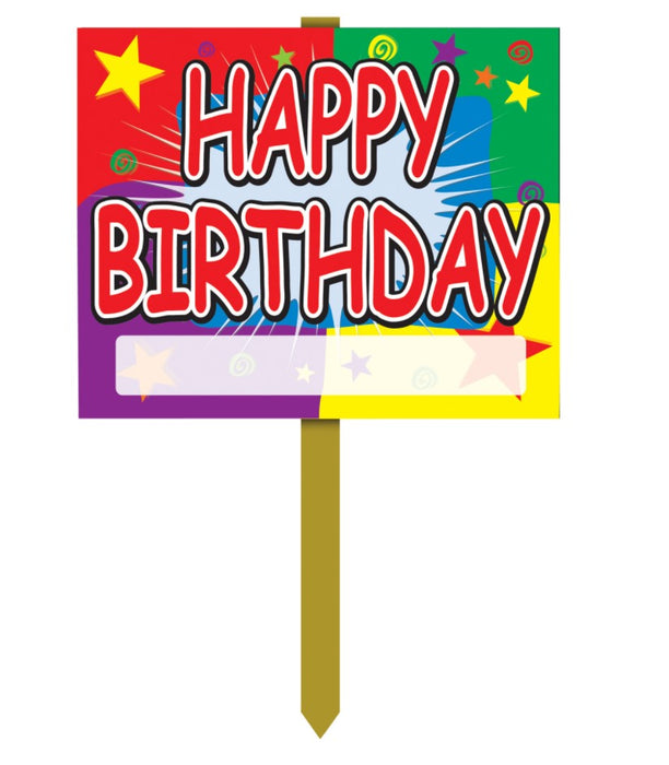 Happy Birthday Lawn-Yard Signs-6 pieces
