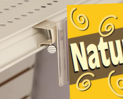 Heavy Duty Shelf Channel Aisle Sign Holder