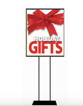 Holiday Gifts Standard Poster- Floor Stand Sign