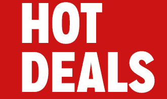 "Hot Deals Hanging Sign- Ceiling Danglers- 22"" W x 28"" L"