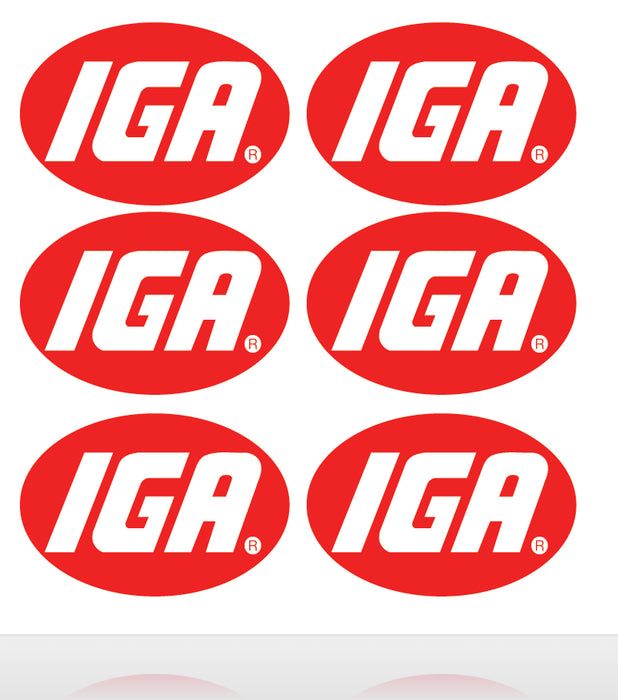 IGA-Markets-Store Branding-Identification Decals-12""