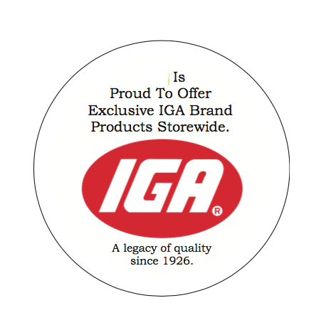 IGA Custom Printed Employee Buttons