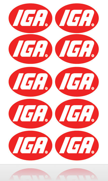 IGA Store Branding-Identification Decals-6""