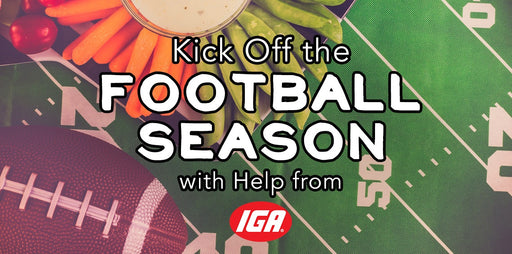 IGA Football Season Banner-5'x3'