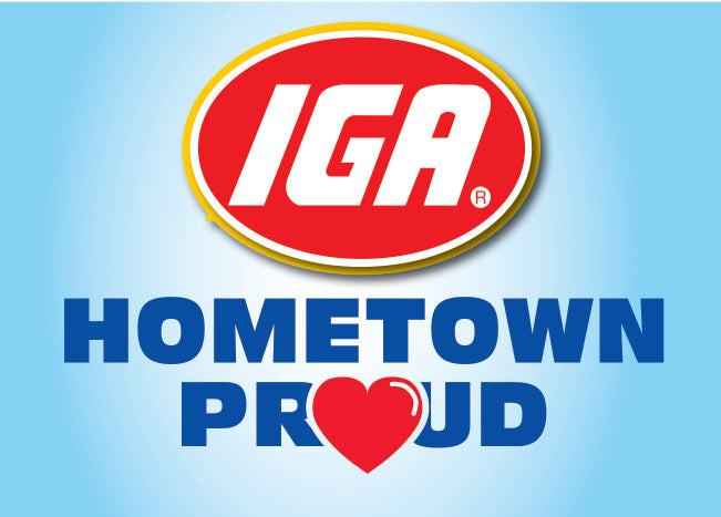 IGA Hometown Proud Stanchion Sign
