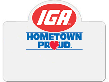 IGA Name Badges-100 pieces