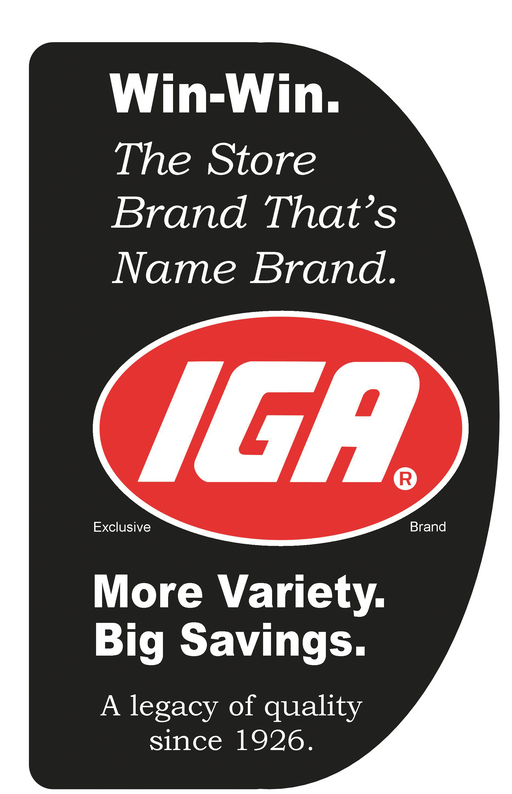 IGA price cards price signs