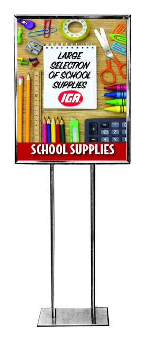 "IGA Back To School Stanchion Sign 22"" x 28"""