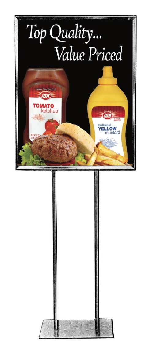 IGA Brand Product Stanchion Sign