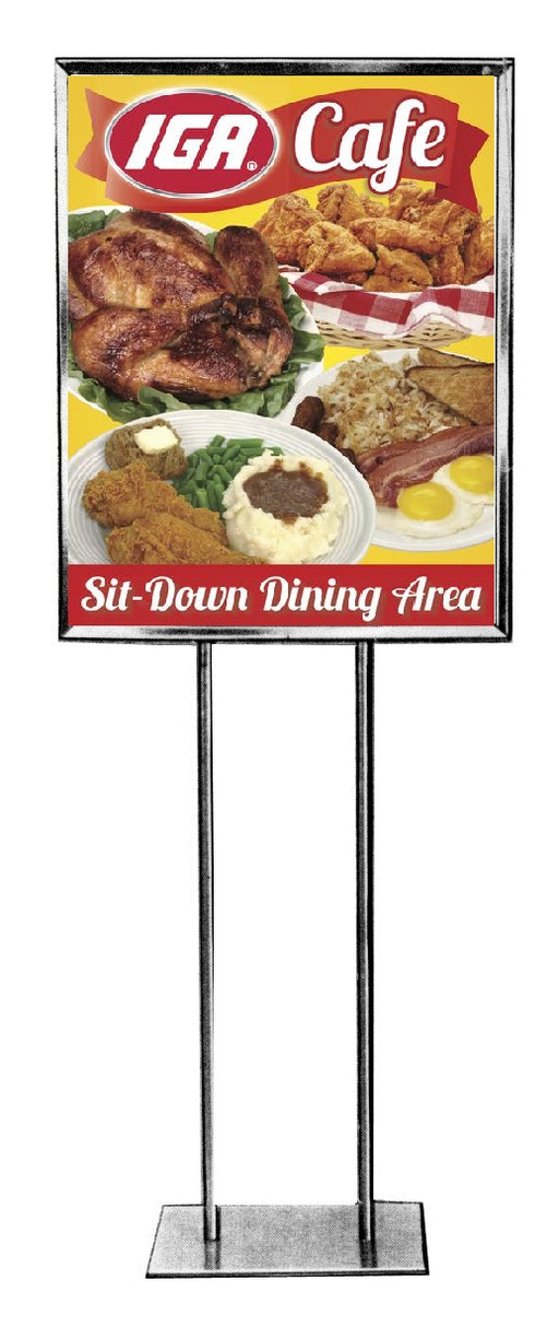 IGA Cafe Floor Stand Stanchion Sign