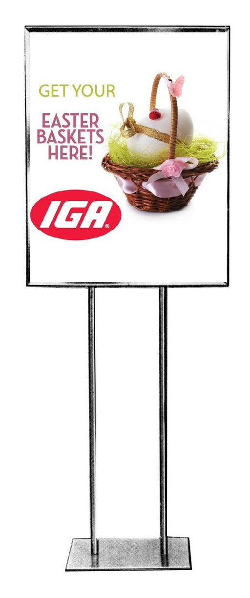 "IGA Easter Baskets Floor Stand Stanchion Sign-22"" x 28"""