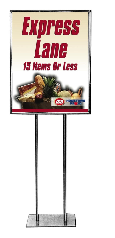 IGA Express Checkout Lane Stanchion-Floor Stand Sign