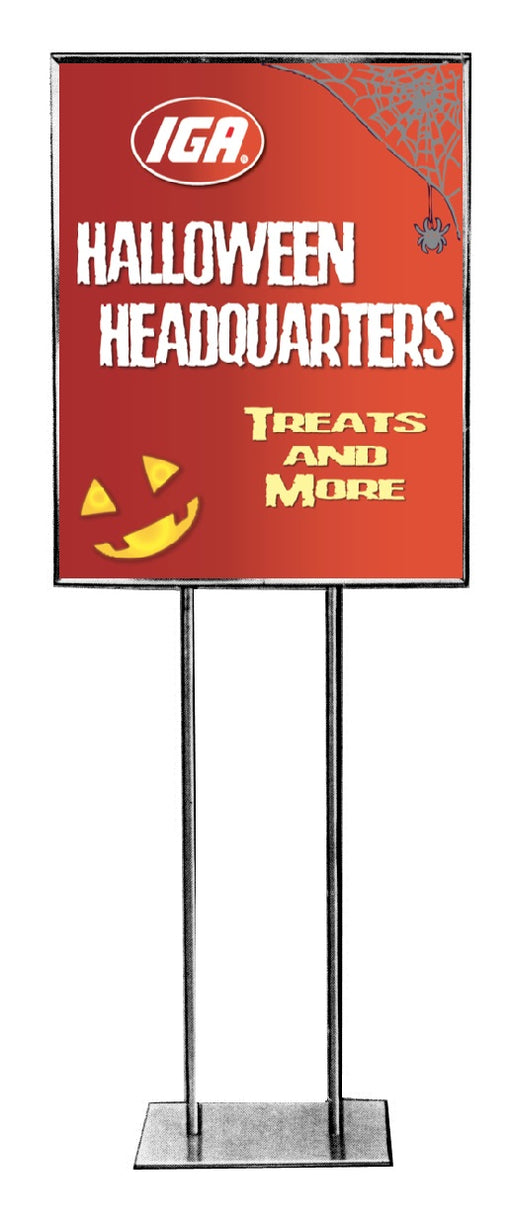 "IGA Halloween Headquarters Standard Posters-Floor Stand Signs- 22"" W x 28"" H"
