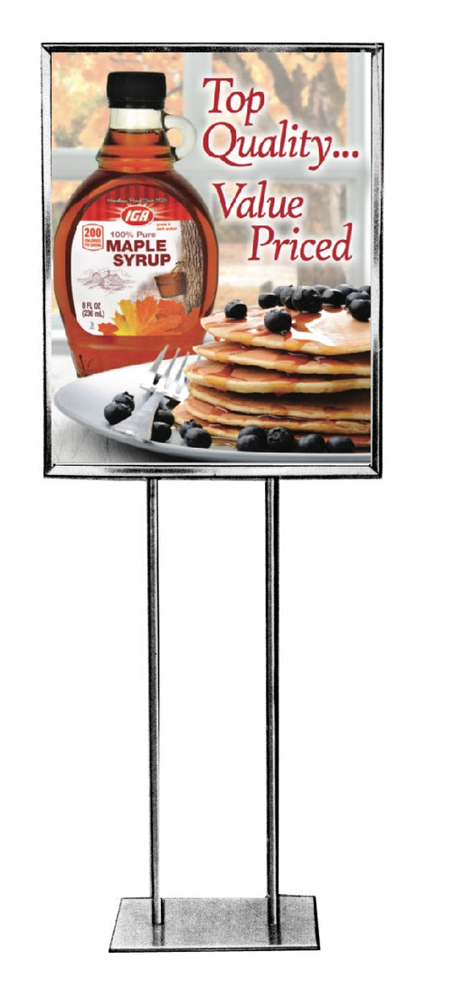 IGA Branded Maple Syrup Stanchion Sign