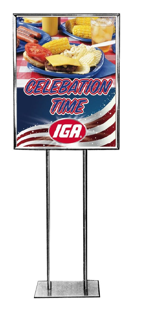 "IGA Summer Cookout Celebration Stanchion Sign 22"" x 28"""