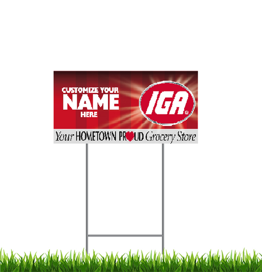 "IGA Lawn-Yard Signs  24 ""x 18"""