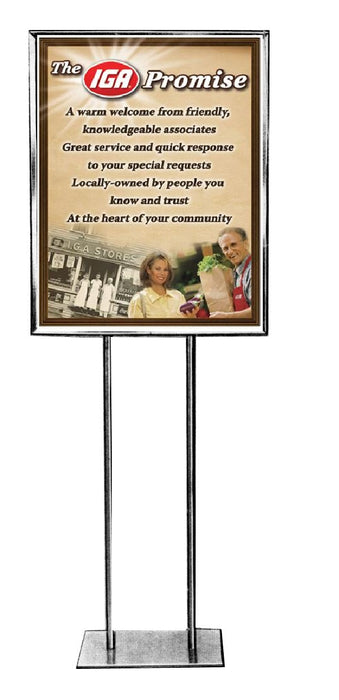 "IGA Promise Stanchion Sign- 22"" x 28"""