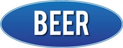 Beer Wall Sign- Blue