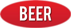 Interior Retail Store Signage-Beer Sign- Red