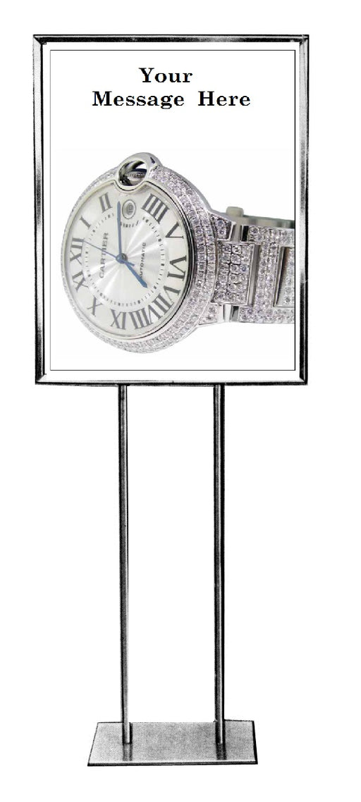 "Jewelry Store Watch Sale Floor Stand Stanchion Signs 22""x28"""